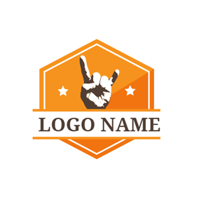 Hexagon and Gesture Style logo design