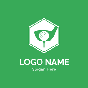 Hexagon and Golf Ball logo design