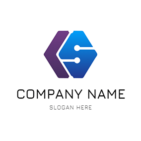 Hexagon Structure and Letter C S logo design