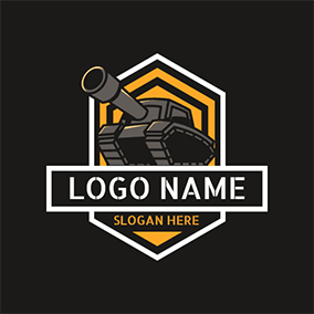 Hexagonal Tank Logo logo design