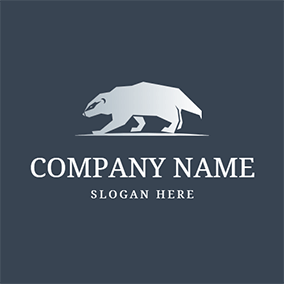 High Quality Walking Badger logo design