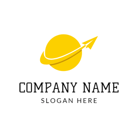 Yellow Tree And Tent Holiday Travel Agency Logo Design