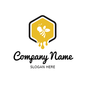 Honeycomb and Splash Honey logo design
