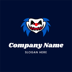 Horrible Joker Face logo design
