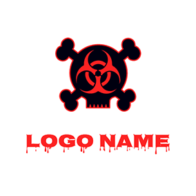 Horrific Skeleton Toxic Logo logo design