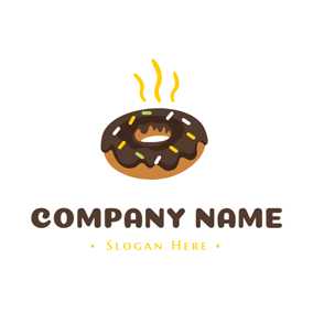 Hot Chocolate Doughnut logo design