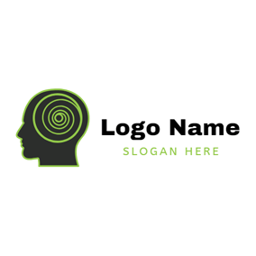 Human Head and Hurricane logo design