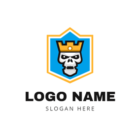Human Skeleton and Esports Badge logo design