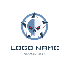 Human Skeleton and Star logo design