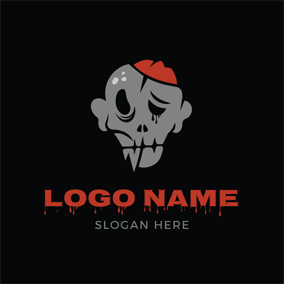 Human Skeleton and Zombie logo design