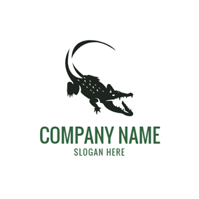 Hungry Black Alligator logo design