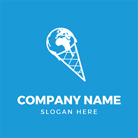 Ice Cream Earth Global Warming logo design