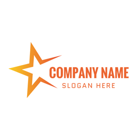 Incomplete Orange Star logo design