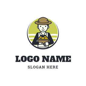 Industrious Farmer and Grassland logo design