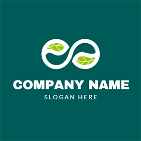 Infinite Symbol and Organic Leaf logo design