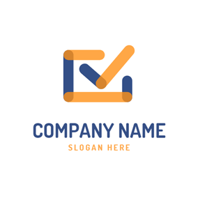 Innovative Square and Check logo design