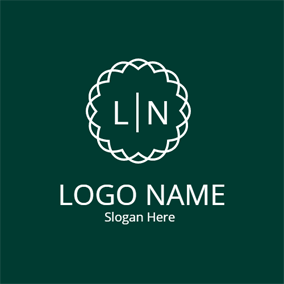 Irregular Circle and Simple Letter logo design