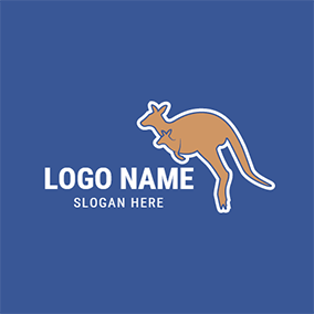 Kangaroo Mother and Baby logo design