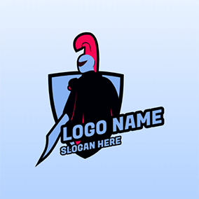 Knight and Shield logo design