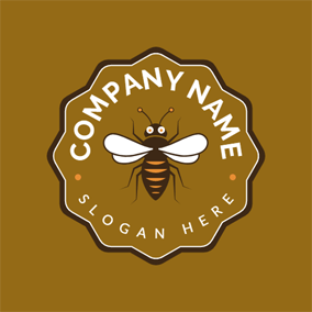 Laciness Badge and Bee logo design