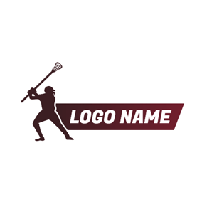 Lacrosse Athlete and Lacrosse Stick logo design