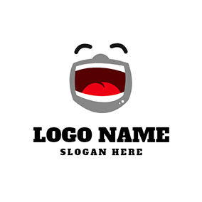 Laugh Mouth Actor Comedy logo design