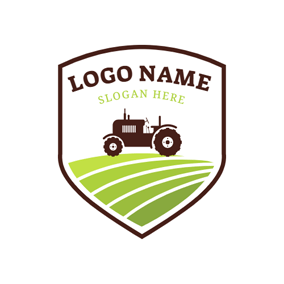 Lawn Mower and Farm logo design