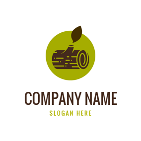 Leaf and Wood logo design