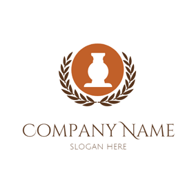 Leaf Decoration and Antique logo design