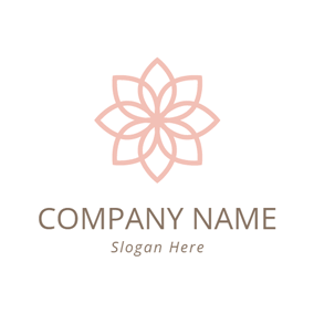 Light Pink Flower logo design