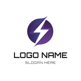 Lightning and Electric Ball logo design