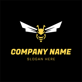Lightning Wings and Unique Hornet logo design