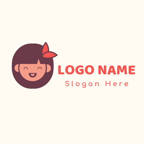 Likable and Smiling Girl logo design