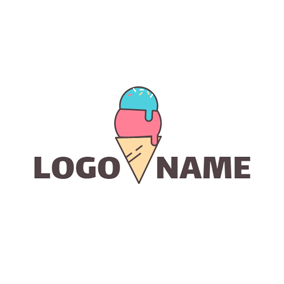 Likable Colorful Ice Cream logo design