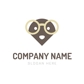 Likable Mole and Big Glasses logo design