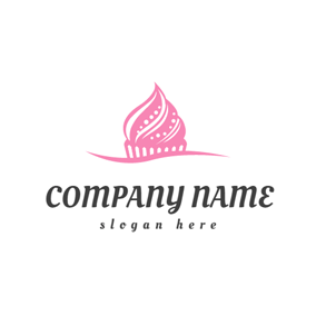 Likable Pink Cake logo design