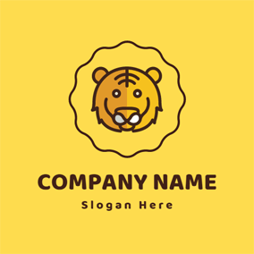 Likable Yellow Tiger logo design