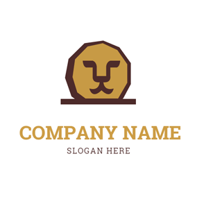 Lion Head and Coin logo design