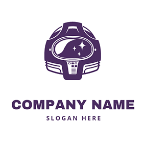 Little Star and Cool Space Helmet logo design