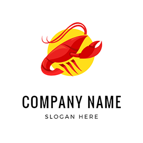Lobster and Circle logo design