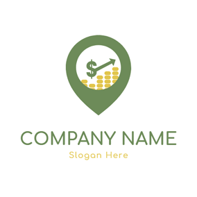Location Shape and Abundant Coin logo design