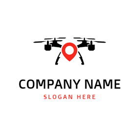 Location Shape and Drone logo design