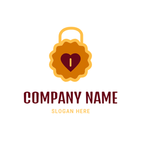 Lock Shape and Cookies logo design