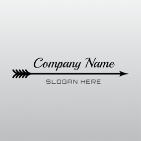 Long Black Arrow logo design