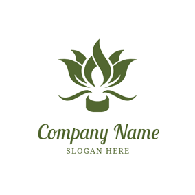 Lotus Shape and Candle logo design