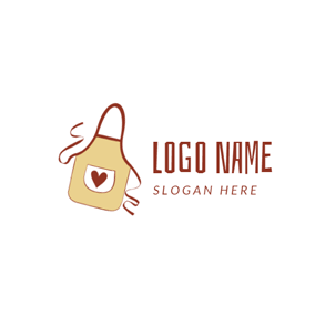 Lovely Beige Apron Icon logo design