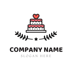 Lovely Birthday Cake logo design