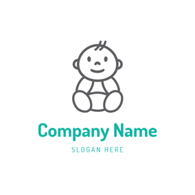 Lovely Black Baby Boy logo design
