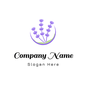 Lovely Circle Lavender logo design