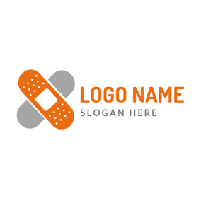 Lovely Orange Letter X logo design